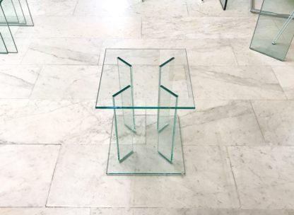 Glazen hoektafel London helder glas