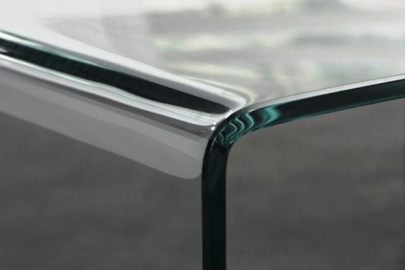 Bijzettafel Gebogen Glas.Glazen Hoektafel Cambridge