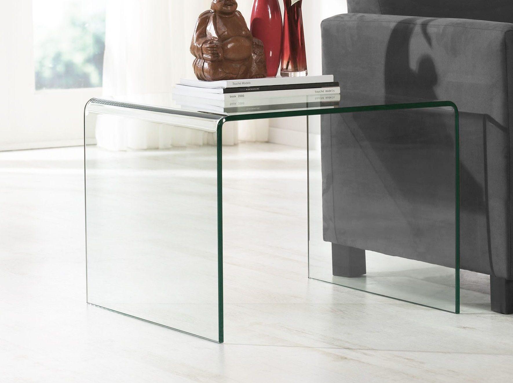 Glazen gebogen tafel set glazentafel.com