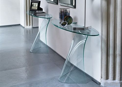 Sidetable Glas Rvs.Fiam Glazen Side Table Dama