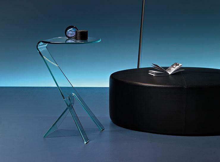 Glazen Bijzettafels Design.Fiam Glazen Bijzettafel Grillo