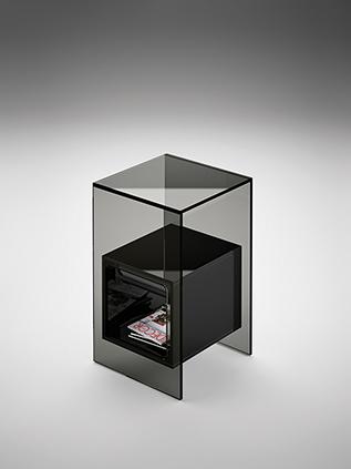 fiam glazen design hoektafel magique (2) zwart