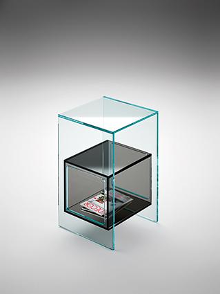 fiam glazen design hoektafel magique (4) zwart