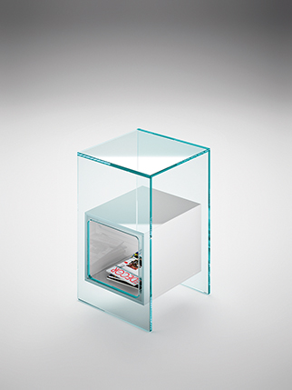 fiam glazen design hoektafel magique (5) wit