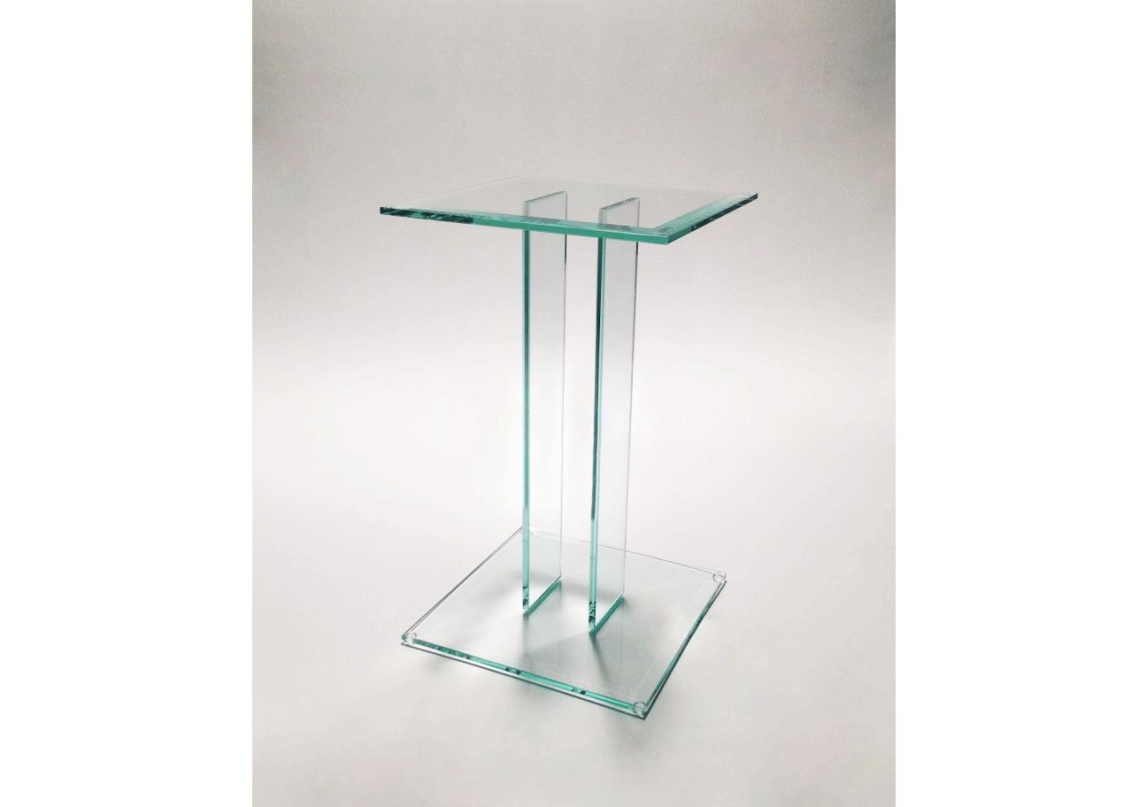 Bijzettafel Vierkant Glas.Glazen Bijzettafel Mesa Op Maat