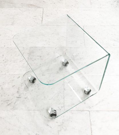 Glazen bijzettafel Miami Plus - extra helder