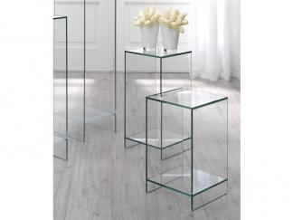 Glazen bijzettafel Atlanta in helder glas