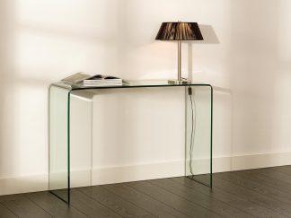glazen gebogen side table biaritz gebogen glas