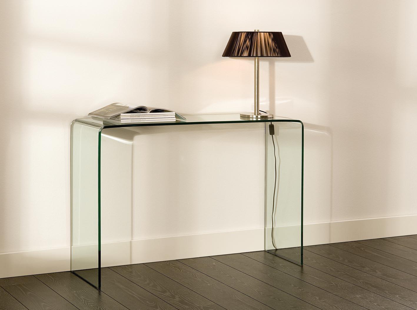 Glazen Wandtafel Sidetable.Glazen Side Table Biarritz