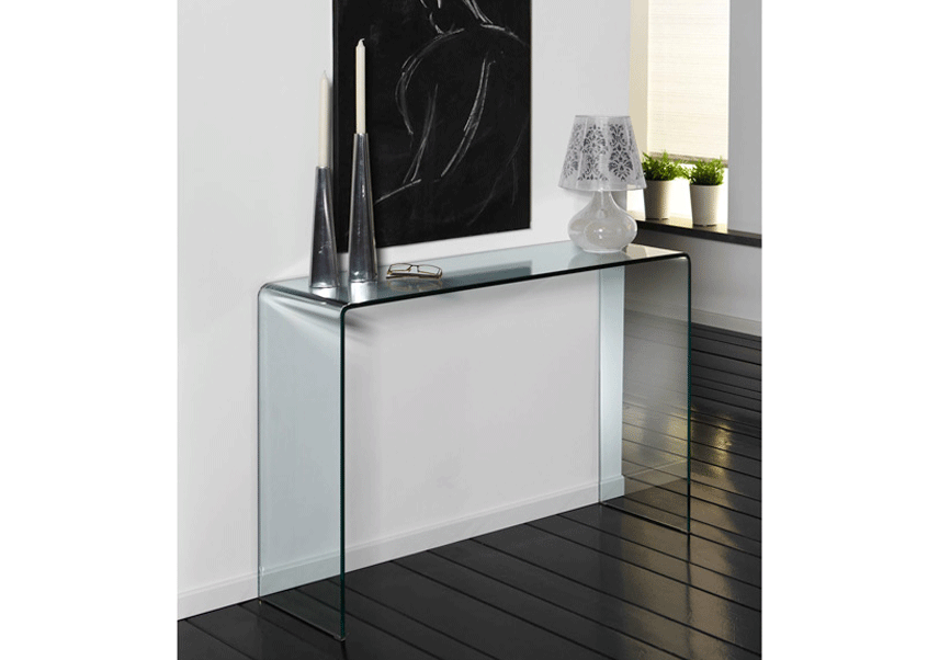 Sidetable Glas Rvs.Glazen Side Table Biarritz