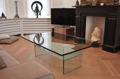 Glazen salontafel Ravenna rechthoek