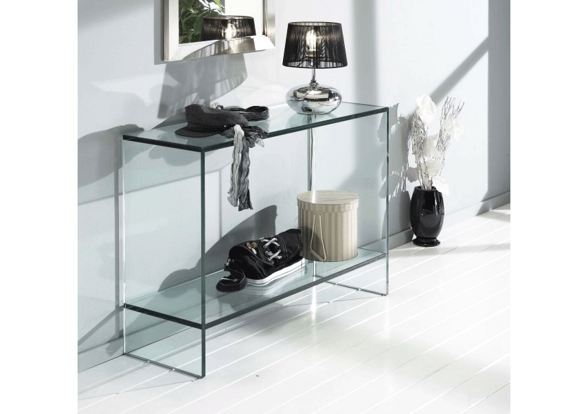 Sidetable Glas Rvs.Glazen Side Table Dijon Op Maat