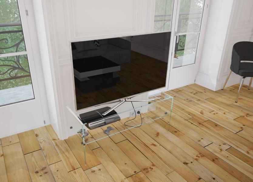 Glazen tv meubel evora glazentafel