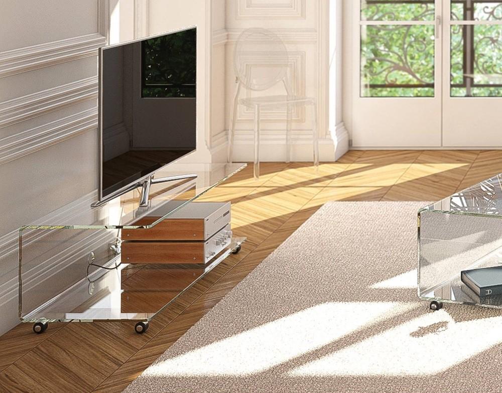 Glazen tv meubel santa cruz glazentafel
