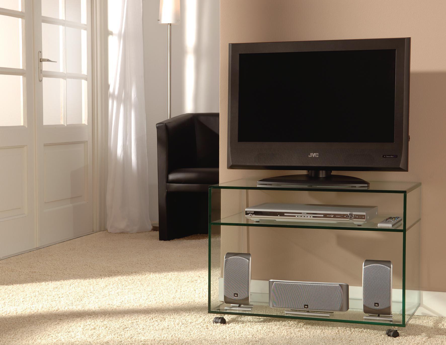 Glazen tv meubel porto op maat glazentafel