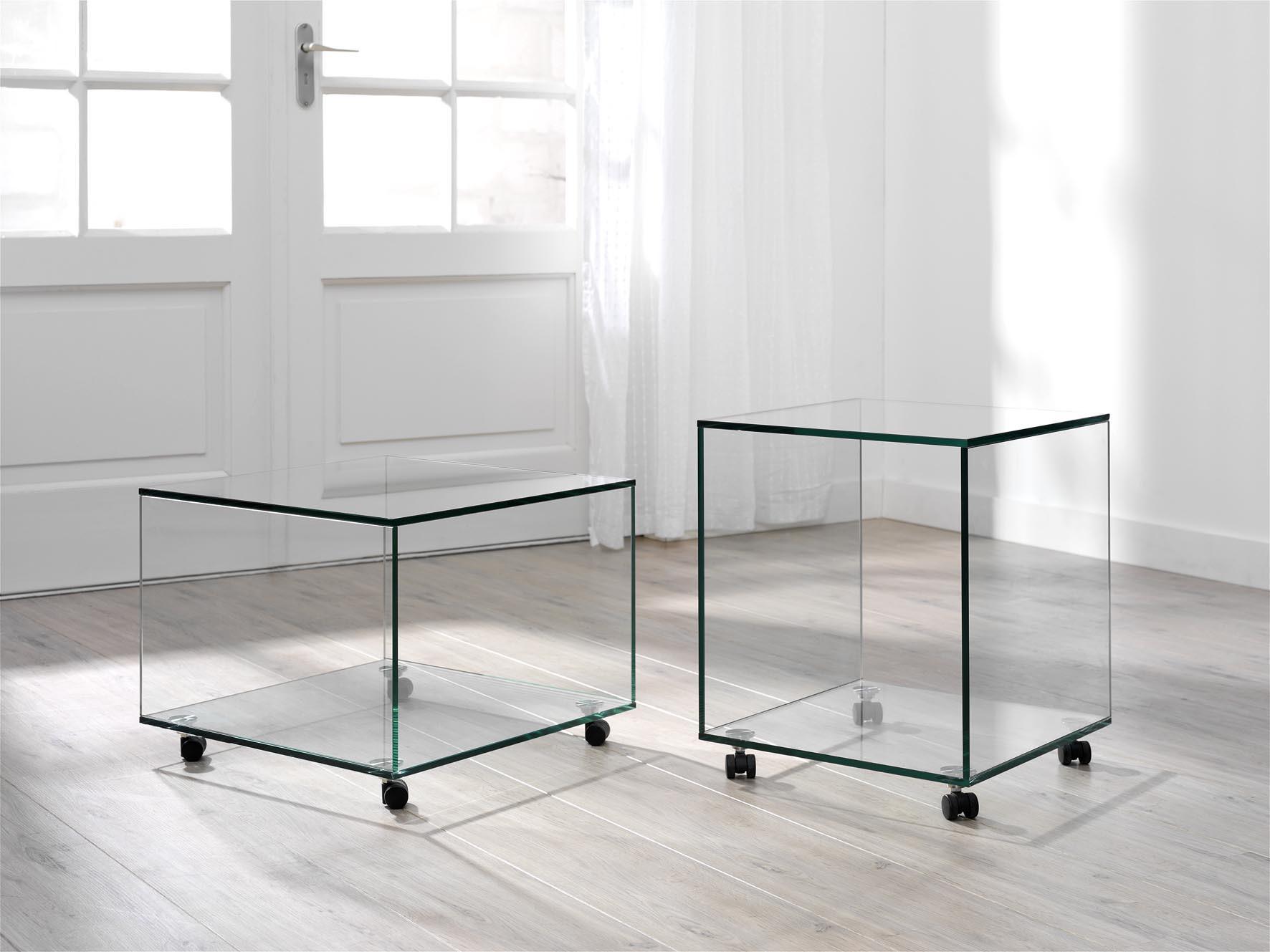 Rechthoekige Glazen Tafel.Glazen Bijzettafel San Diego Op Maat Glazentafel Com