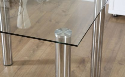 glazen eettafel barcelona vierkant detail-3