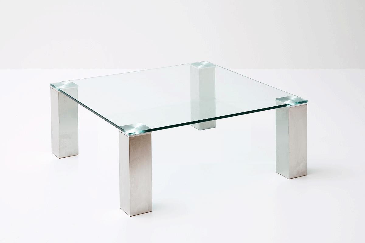 Grote Glazen Salon Tafel.Salon Tafel Glas Rvs