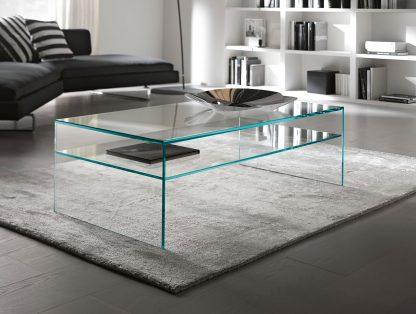 glazen salontafel milano plus extra helder glas rechthoek