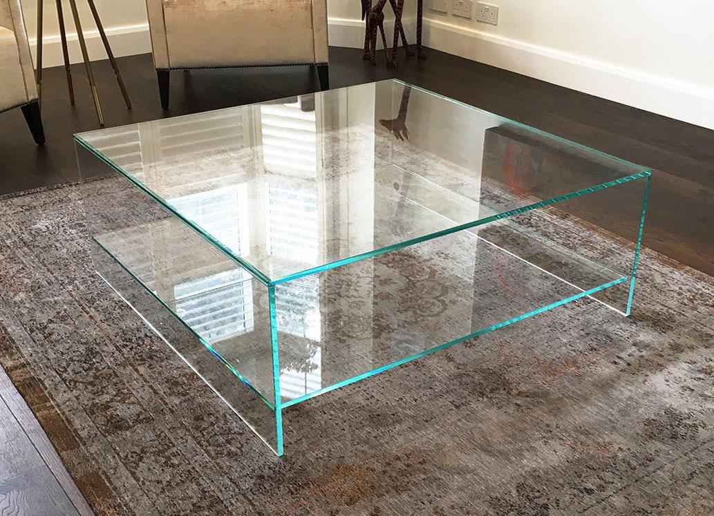 Aparte Glazen Salontafel.Glazen Tafels Op Maat Prijs