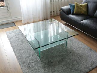 Glazen salontafel Ravenna vierkant