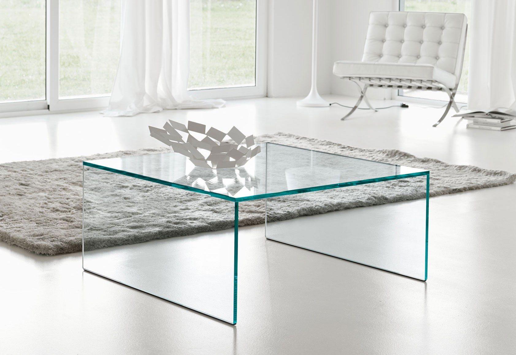 Glazen Tafel Op Maat.Glazen Salontafel Milano Op Maat Vierkant