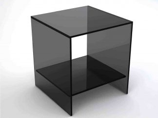 Glazen hoektafel florida grijs glas