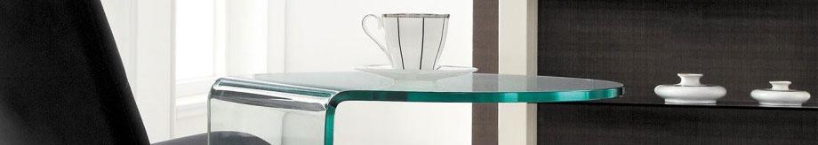 Glazentafel.com - glazen bijzettafel Boston in gebogen glas