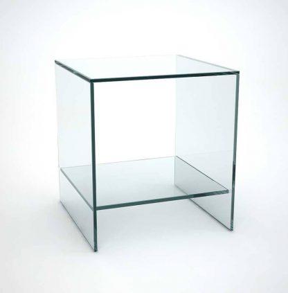 Glazen hoektafel Florida plus - helder glas