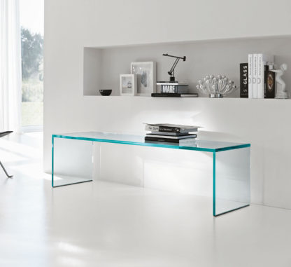 Glazen salontafel Roma verstek - extra helder glas
