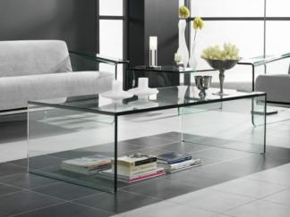 Glazen salontafel Roma verstek - helder glas