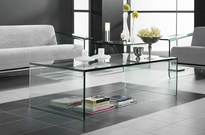 Glazen salontafel roma rechthoek glazentafel