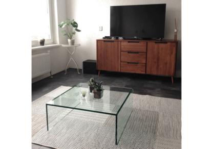 Glazen salontafel Roma vierkant helder glas