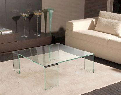 Glazen gebogen tafel Verona