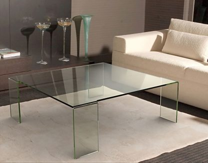 Glazen salontafel Verona in helder glas