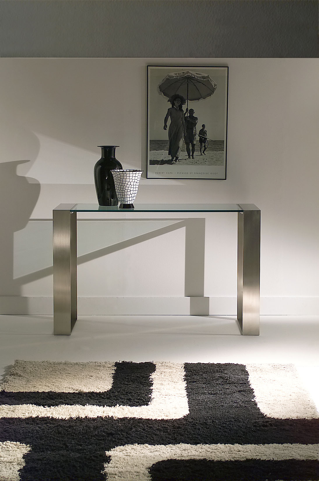 Sidetable Glas Rvs.Glazen Side Table Paris