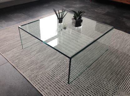 Glazen salontafel Roma - vierkant