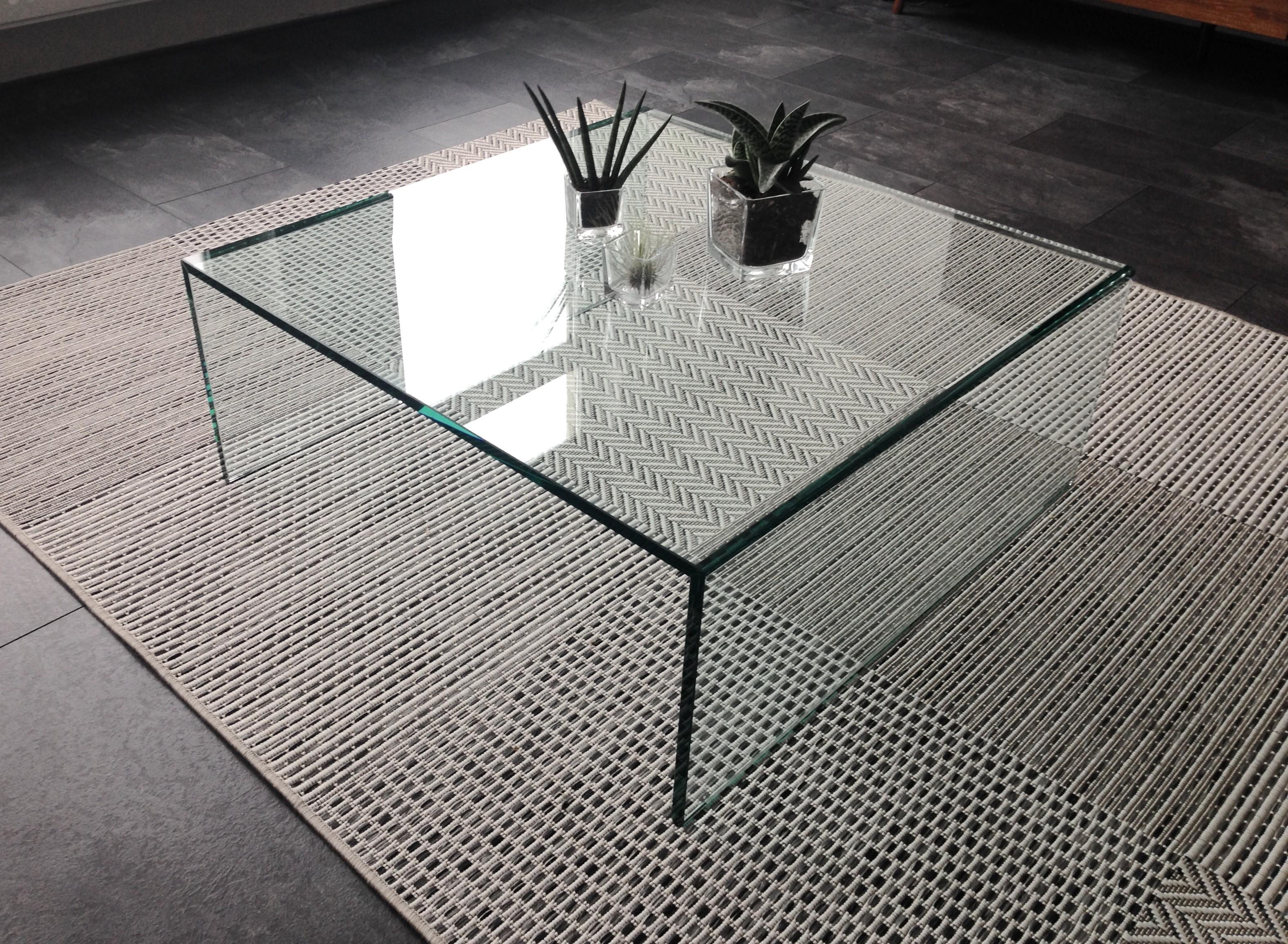 Moderne Glazen Salontafels.Glazen Salontafel Roma Vierkant