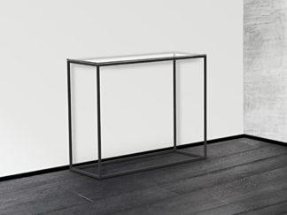 Glazen haltafel Lyon helder glas met zwart