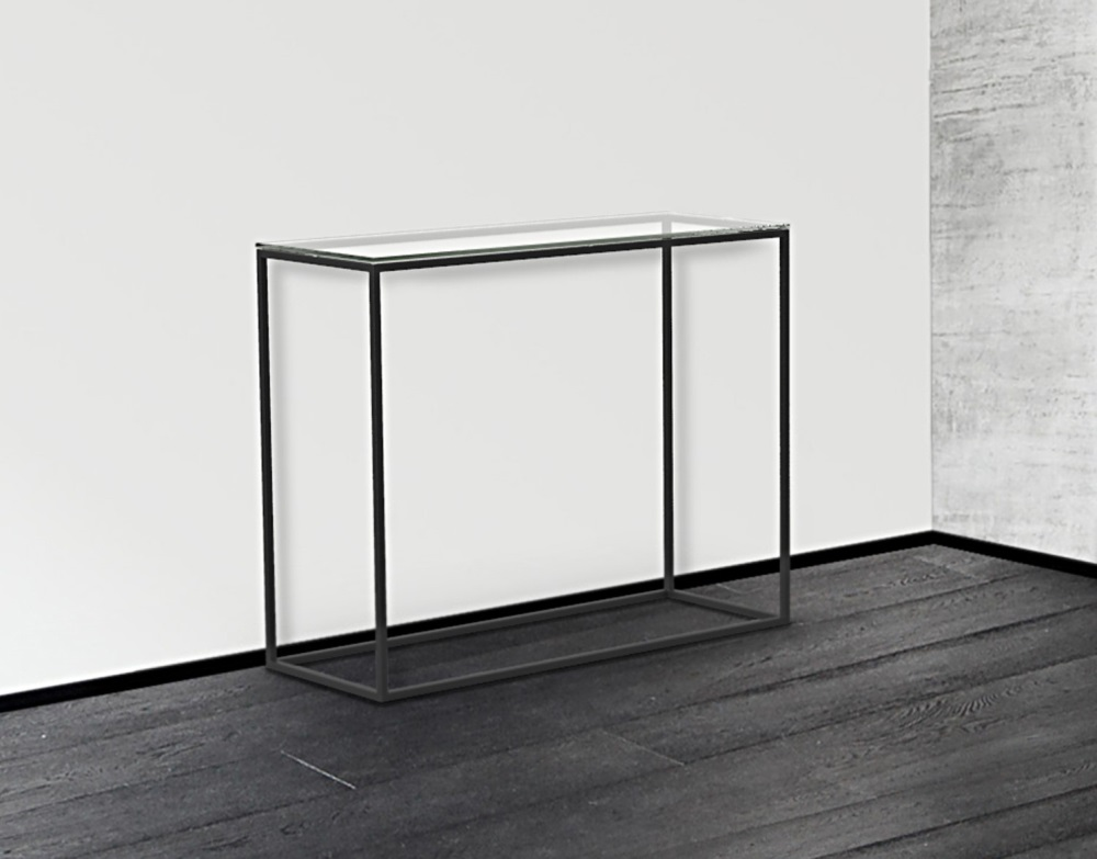 Sidetable Glas Rvs.Glazen Side Table Lyon