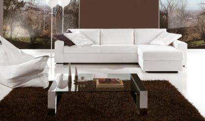 Glazen salontafel Modena met chrome frame helder glas