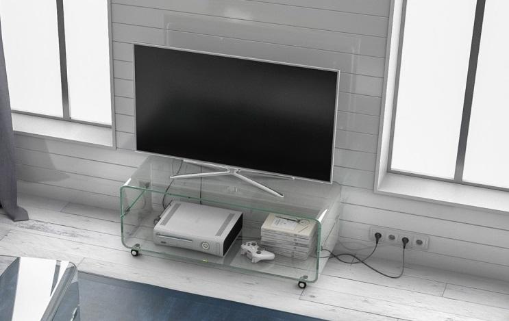 Glazen tv meubel lagos glazentafel