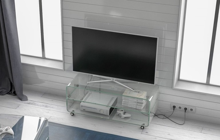 Design Tv Meubel Glas.Glazen Tv Meubel Lagos Plus Glazentafel Com