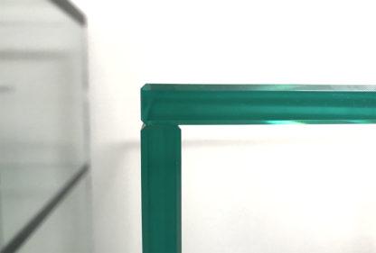recht op elkaar verlijmde tafel - helder glas