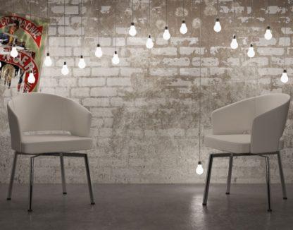 Glazentafel.com - stoel helio wit met chrome poten
