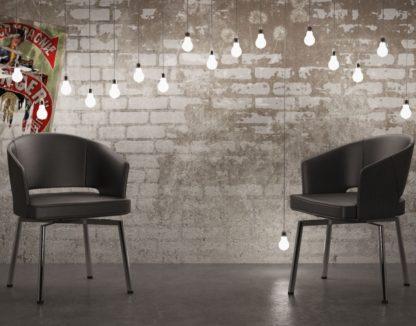 Glazentafel.com - stoel zwart met chrome poten