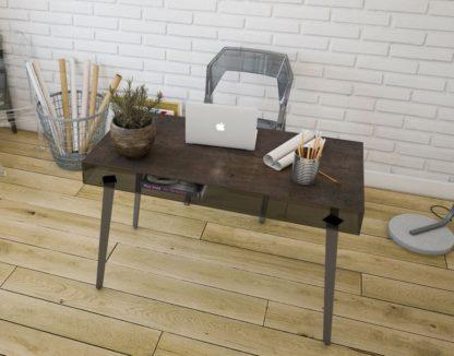 Glazen bureau Alicante - grijs glas en keramiek gelakt staal
